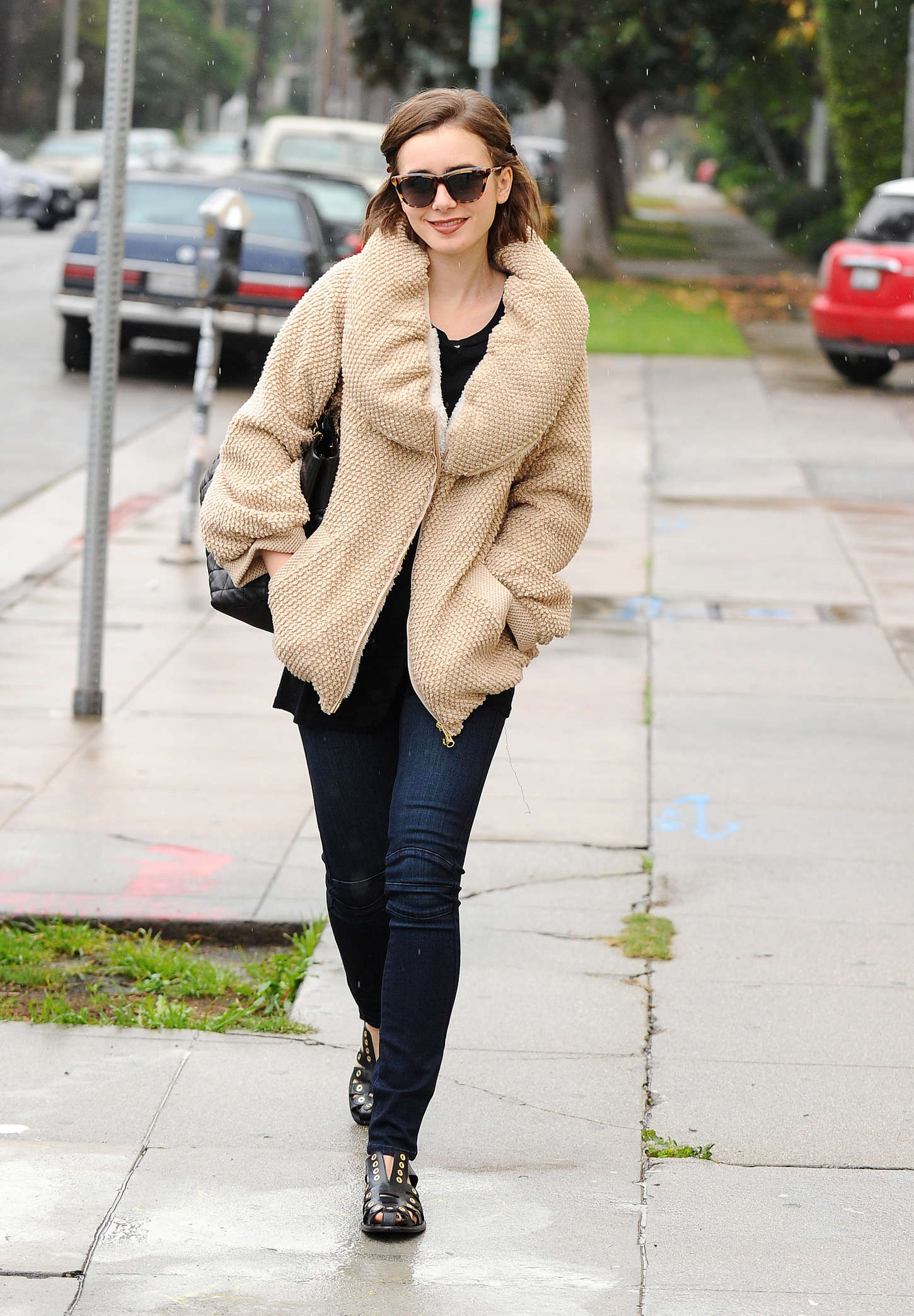 Lily collins street style out in la new images