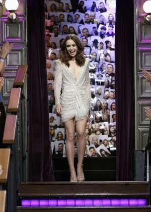 Lily Collins - The Late Late Show with James Corden in LA