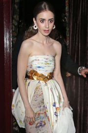 Lily Collins - 'Tolkien' After Party at Loulou's in London