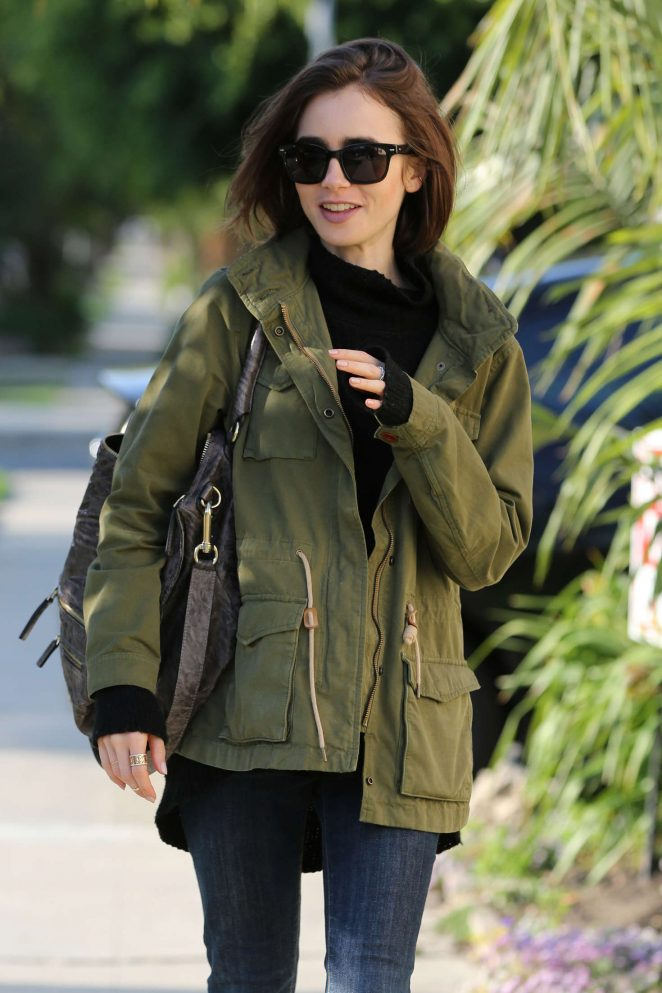 Lily Collins - Visits a Friend in Los Angeles