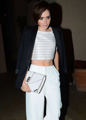 Lily Collins - Vogue Magazine Dinner Party in LA