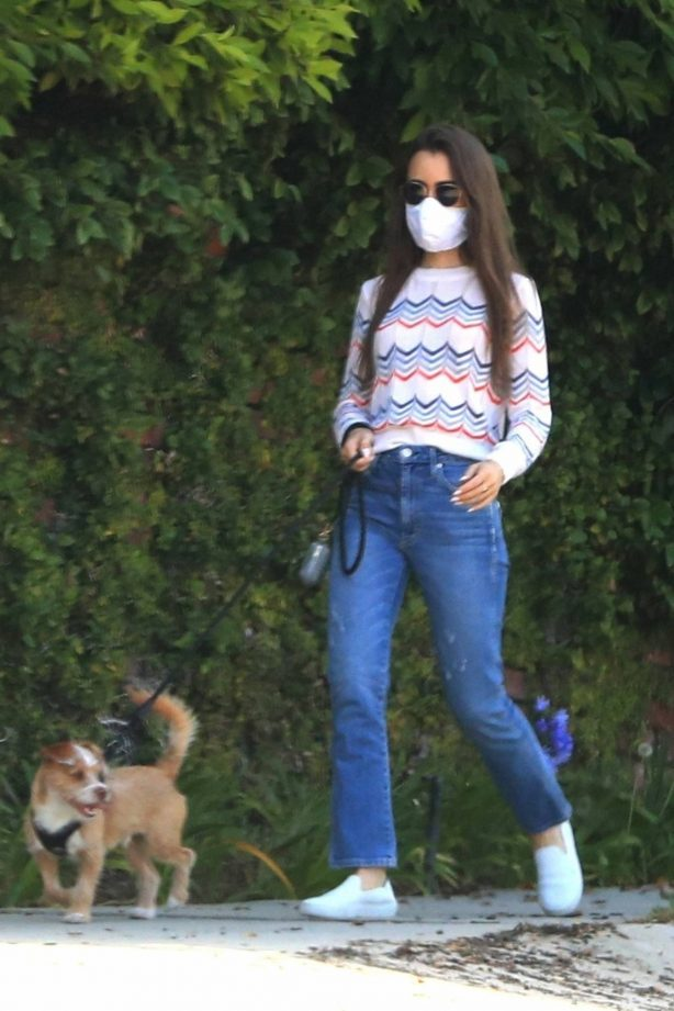 Lily Collins - Walking Redford in Beverly Hills