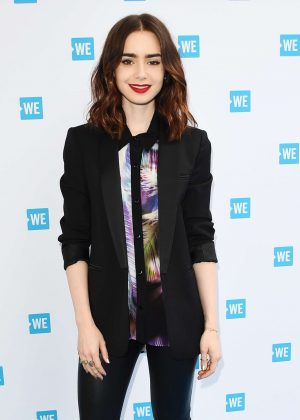 Lily Collins - WE Day Cocktail in Los Angeles