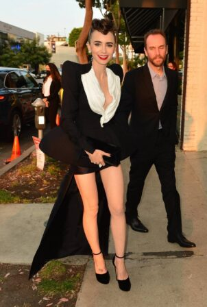 Lily Collins - With Charlie McDowell arrive at Cartier's Clash Unlimited launch party in Hollywood