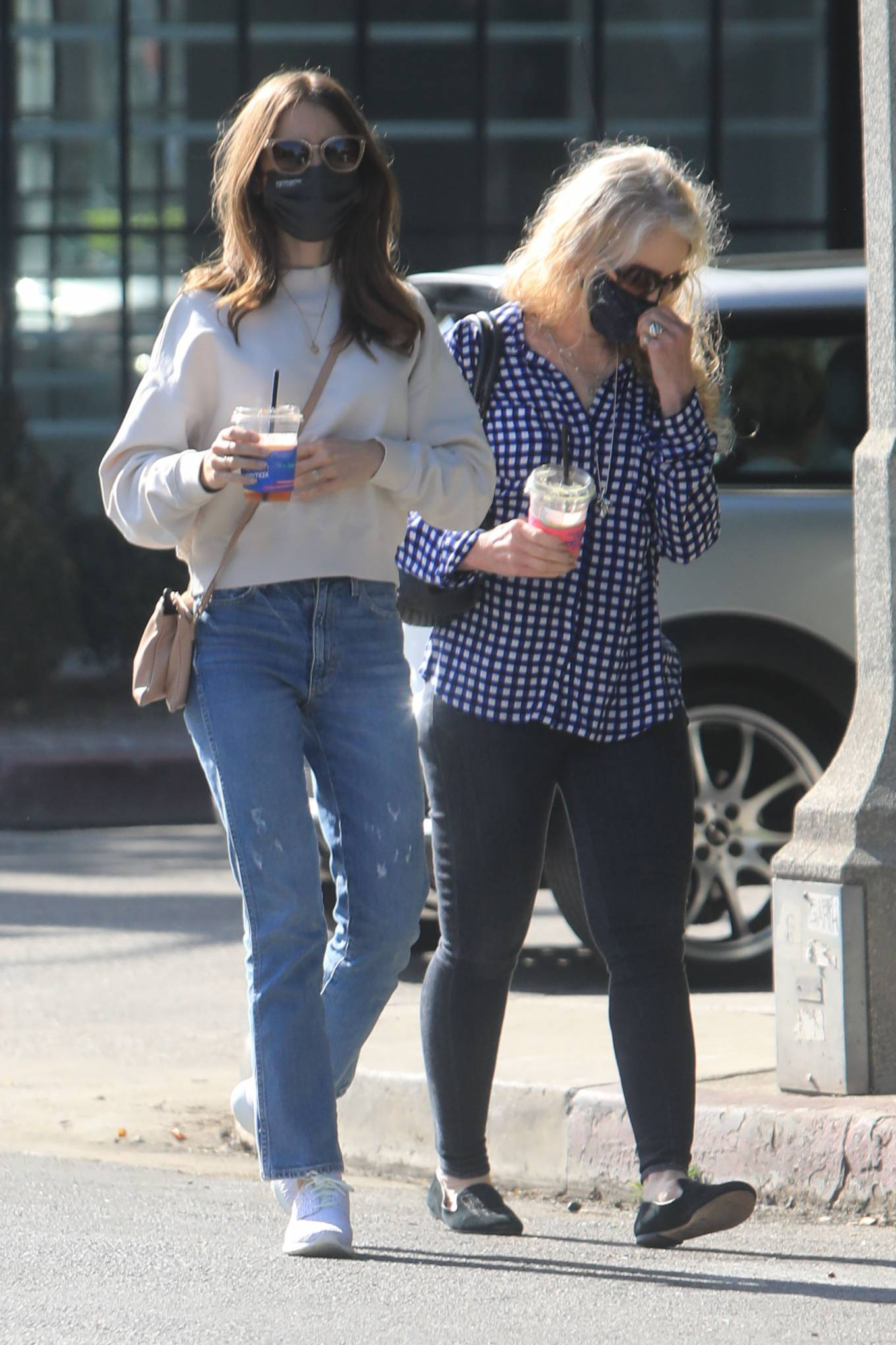 Lily Collins 2021 : Lily Collins – With mom Jill Tavelman out in West Hollywood-01