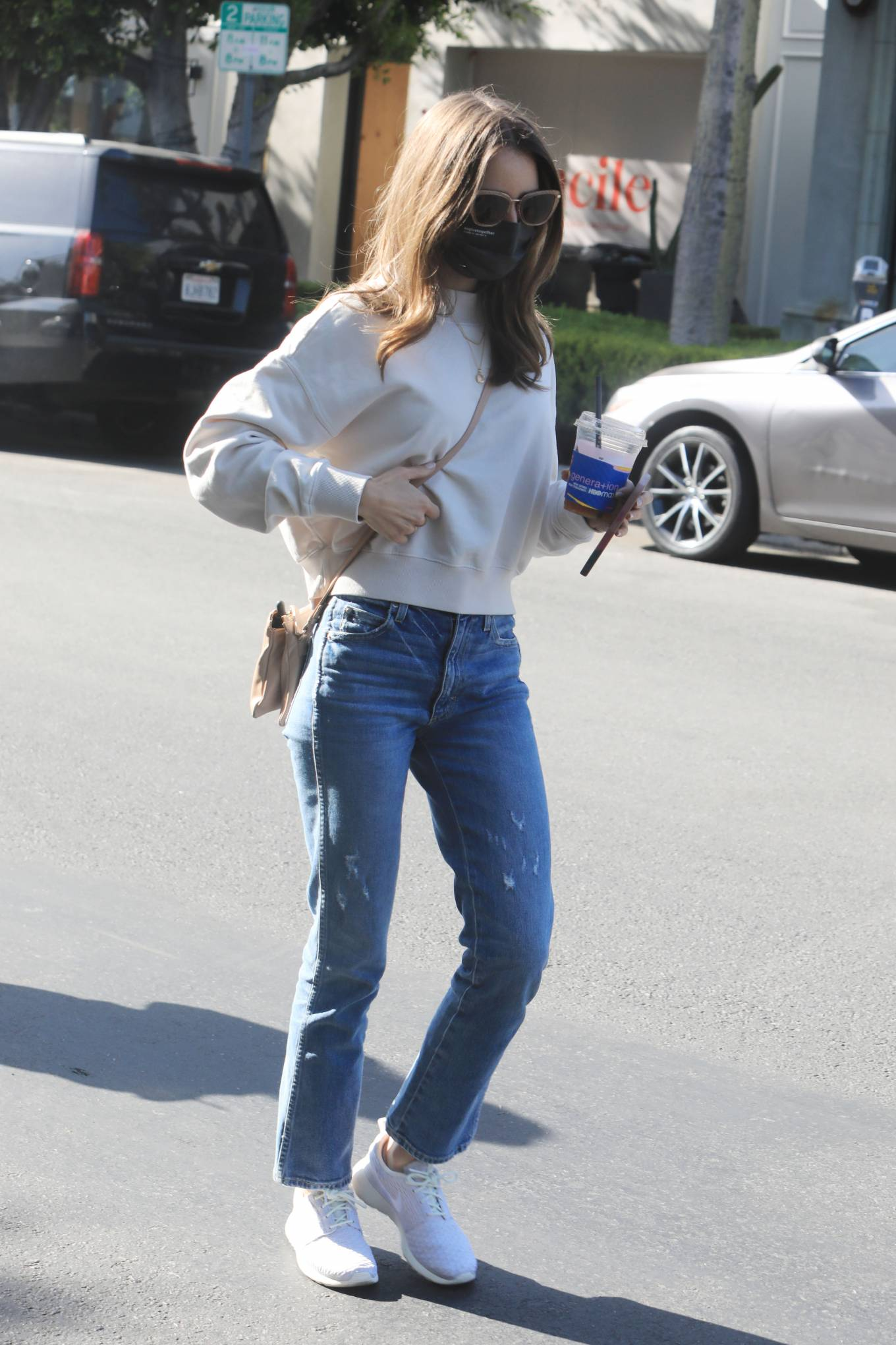Lily Collins 2021 : Lily Collins – With mom Jill Tavelman out in West Hollywood-02