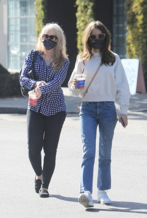 Lily Collins - With mom Jill Tavelman out in West Hollywood