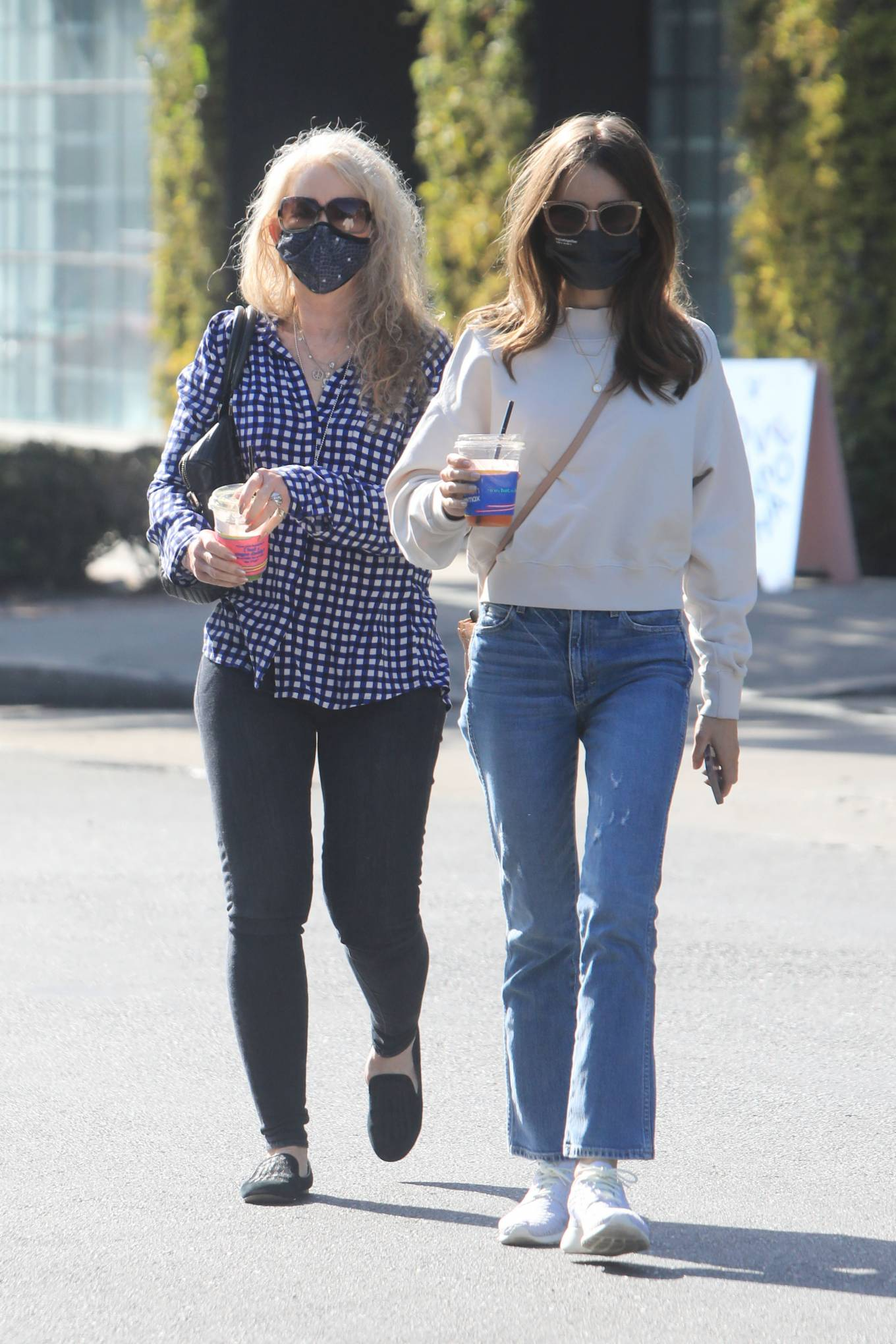 Lily Collins 2021 : Lily Collins – With mom Jill Tavelman out in West Hollywood-07
