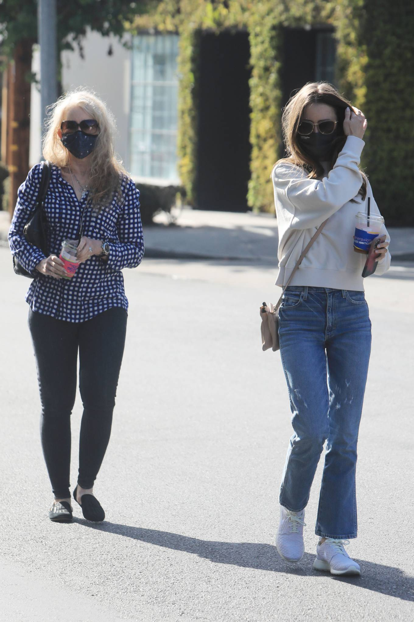 Lily Collins 2021 : Lily Collins – With mom Jill Tavelman out in West Hollywood-08