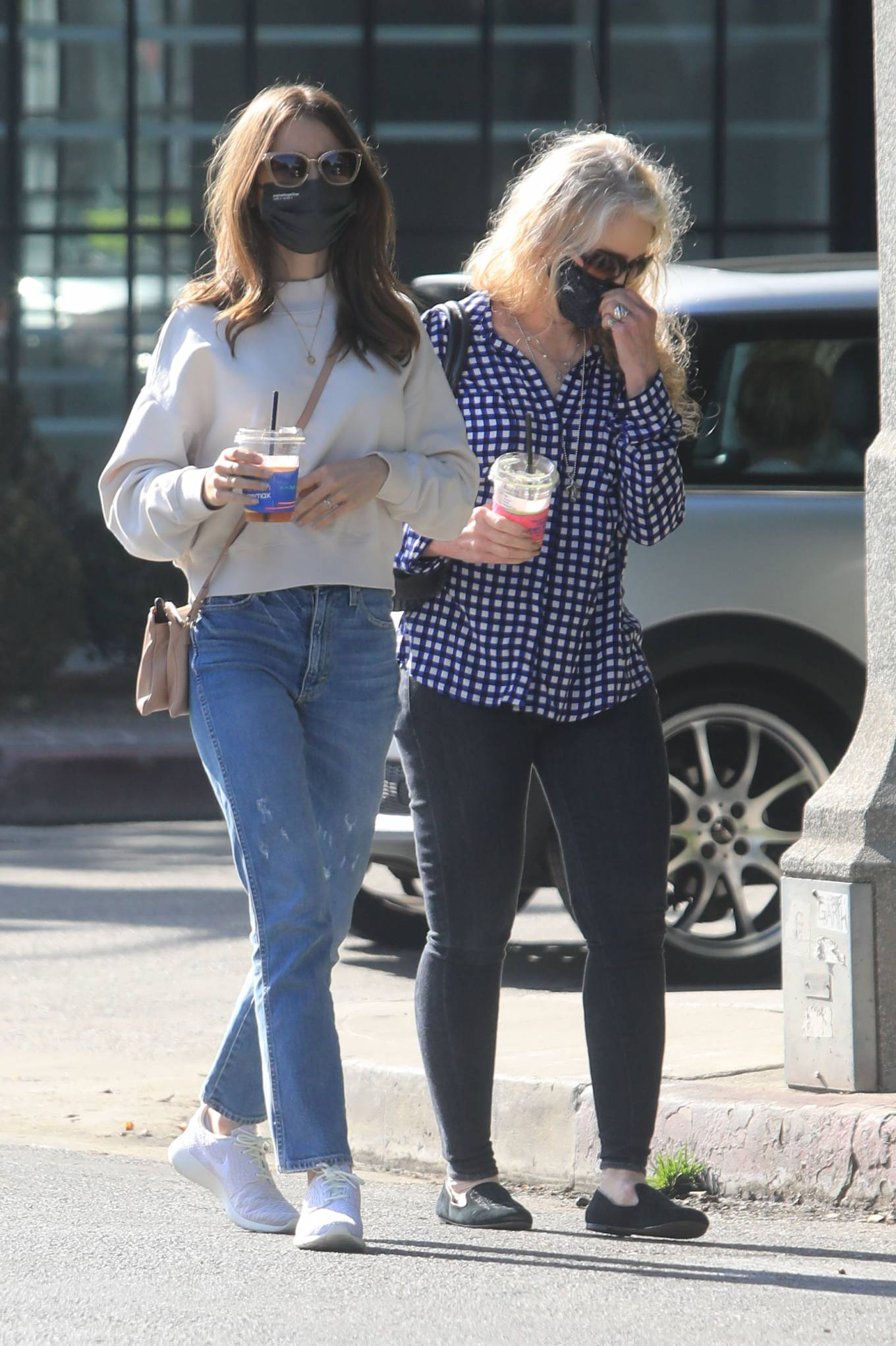 Lily Collins 2021 : Lily Collins – With mom Jill Tavelman out in West Hollywood-09