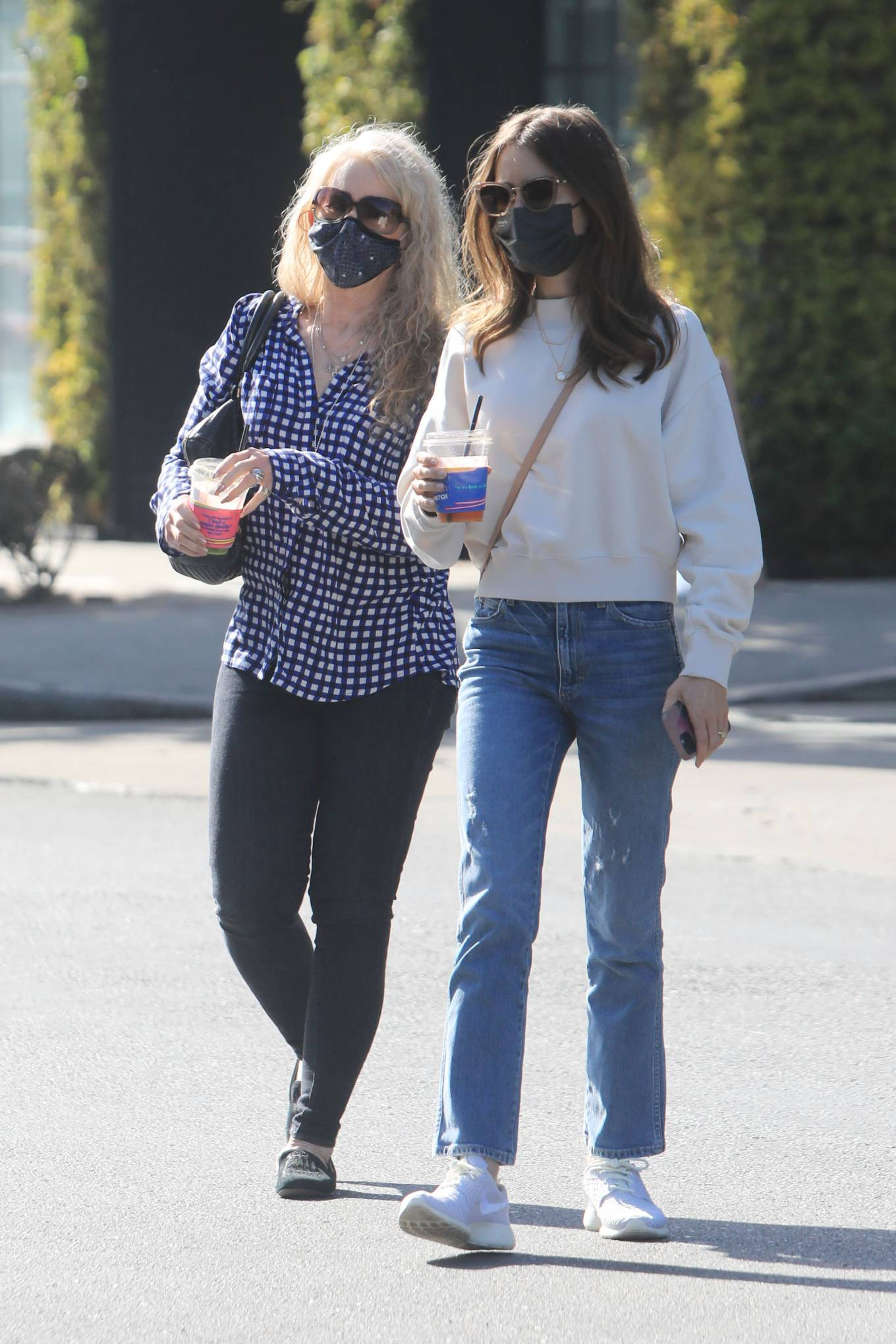 Lily Collins 2021 : Lily Collins – With mom Jill Tavelman out in West Hollywood-11