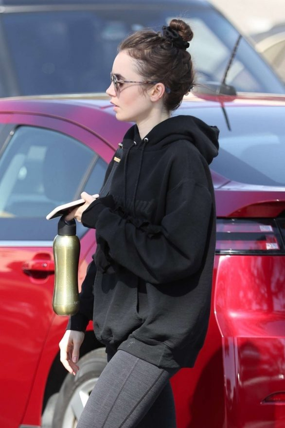 Lily Collins - Workout in West Hollywood