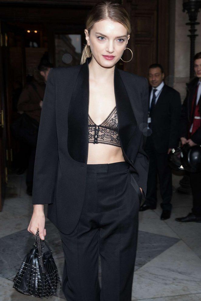 Lily Donaldson Leaving Stella McCartney Show in Paris