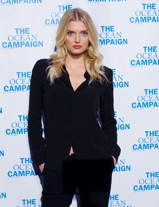 Lily Donaldson - The Ocean Campaign Launch Gala in NYC