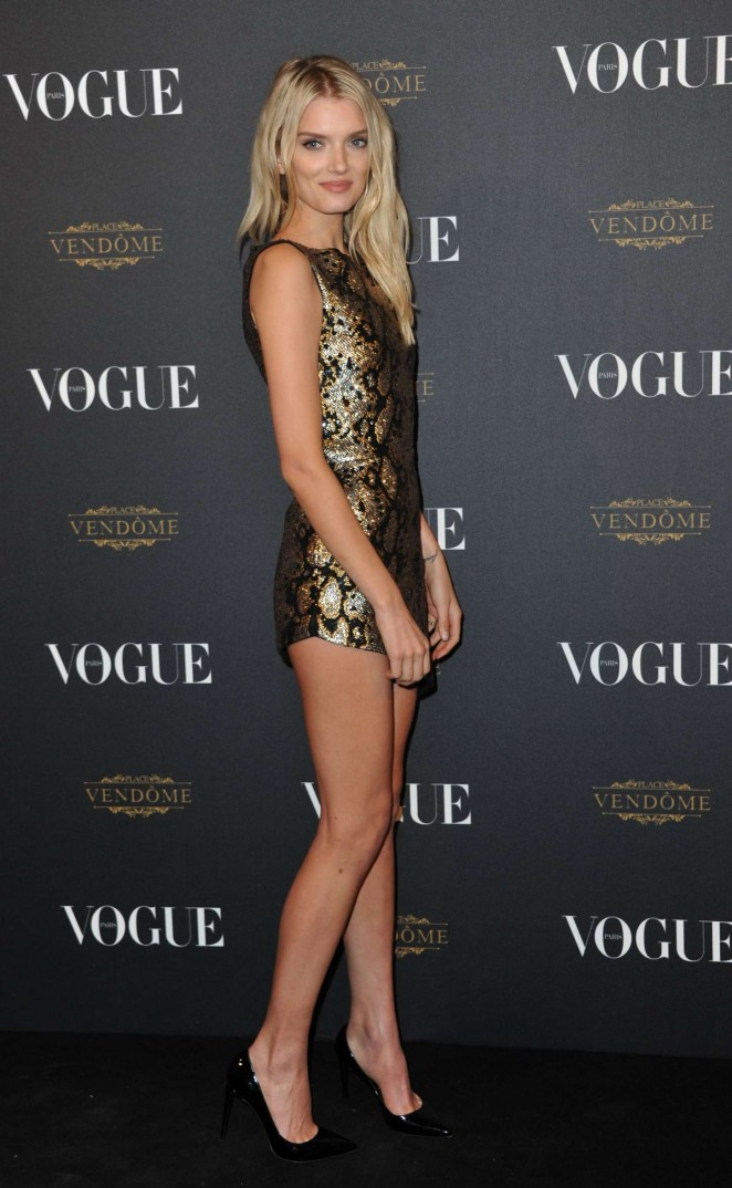 Lily Donaldson – Vogue 95th Anniversary Party in Paris