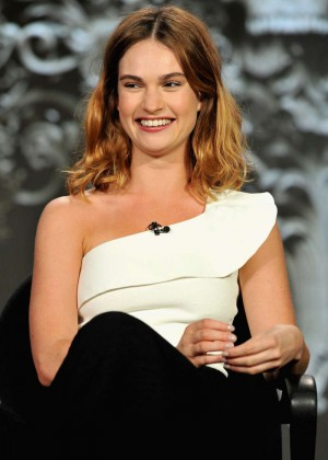 Lily James - 2016 Winter TCA Tour in Pasadena
