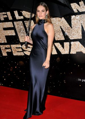 Lily James - 60th BFI London Film Festival Awards in London