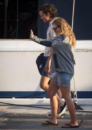 Lily James and Jeremy Irvine filming 'Mamma Mia! 2' inCroatia