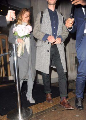 Lily James and Matt Smith Leaving Nobu Restaurant in London