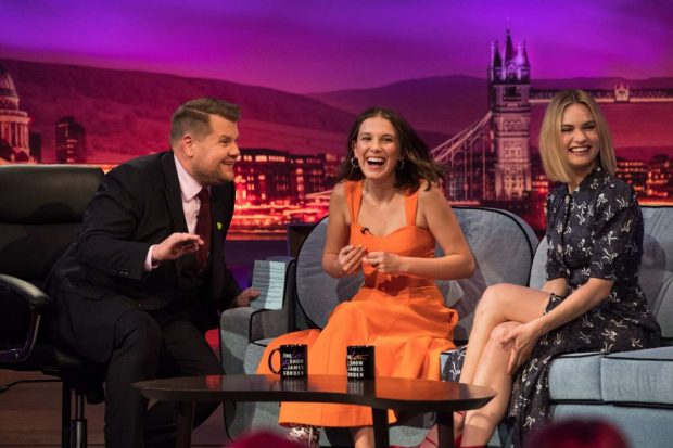 Lily James and Millie Bobby Brown - On 'The late Late Show with James Corden' in London