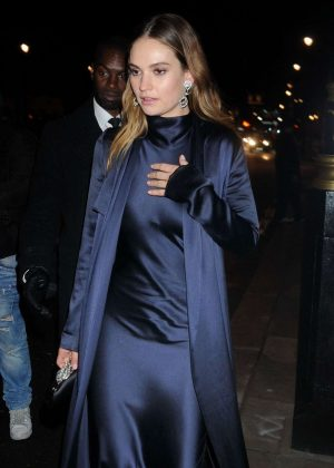 Lily James - Arrives at 60th BFI London Film Festival Awards in London