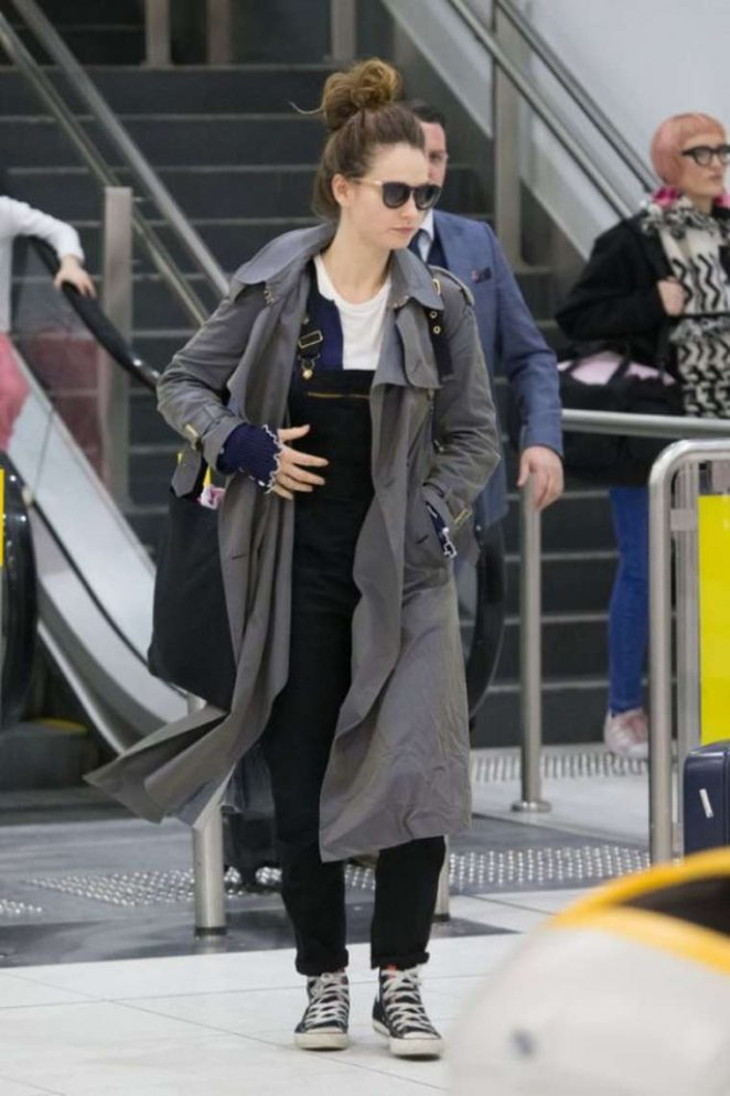 Lily James - Arrives at Melbourne Airport