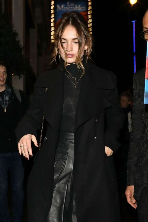 Lily James - Arriving at the re-opening of 'Les Miserables' in London