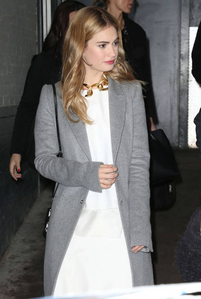 Lily James at ABC Studios in NYC
