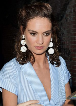 Lily James at Beauty and Essex in Los Angeles