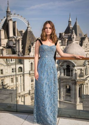 Lily James - 'Baby Driver' Photocall in London