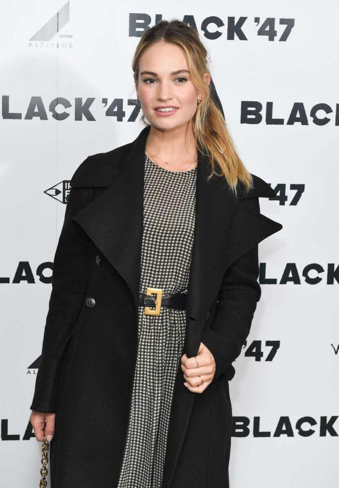 Lily James - 'Black 47' Screening in London
