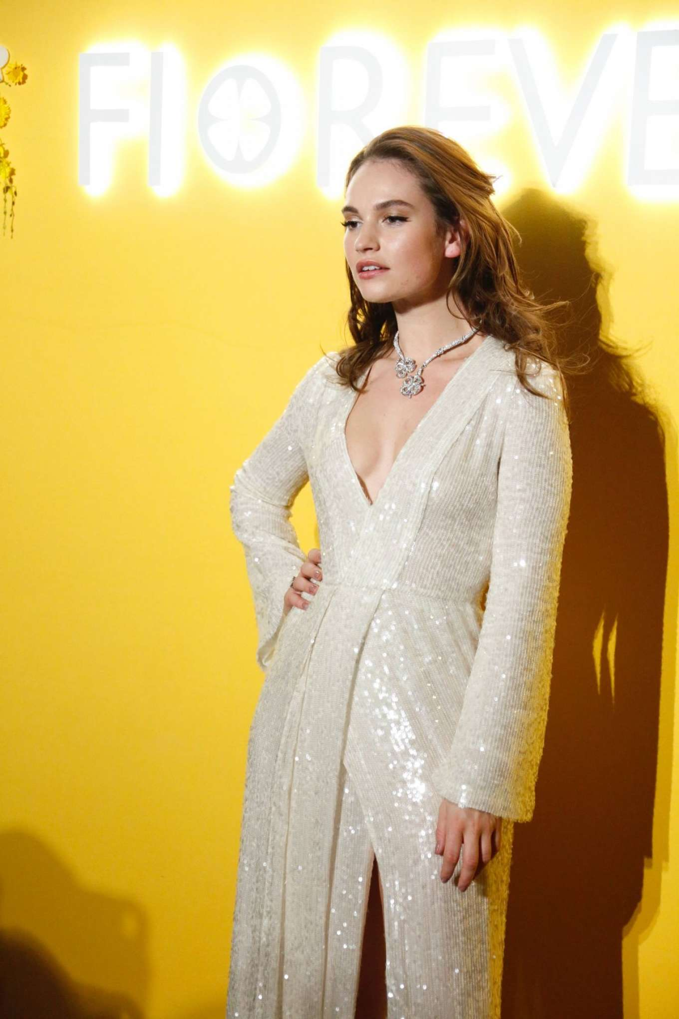 Lily James 2018 : Lily James: Bvlgaris Fiorever Jewelry Collection Press Conference -05