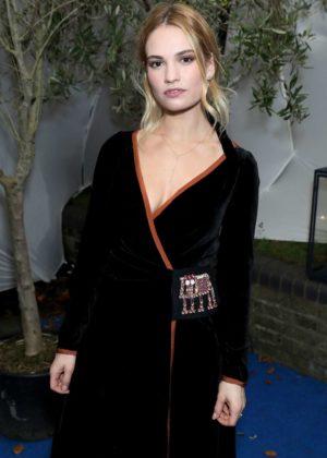 Lily James - Celebrating British Vogue's December in London