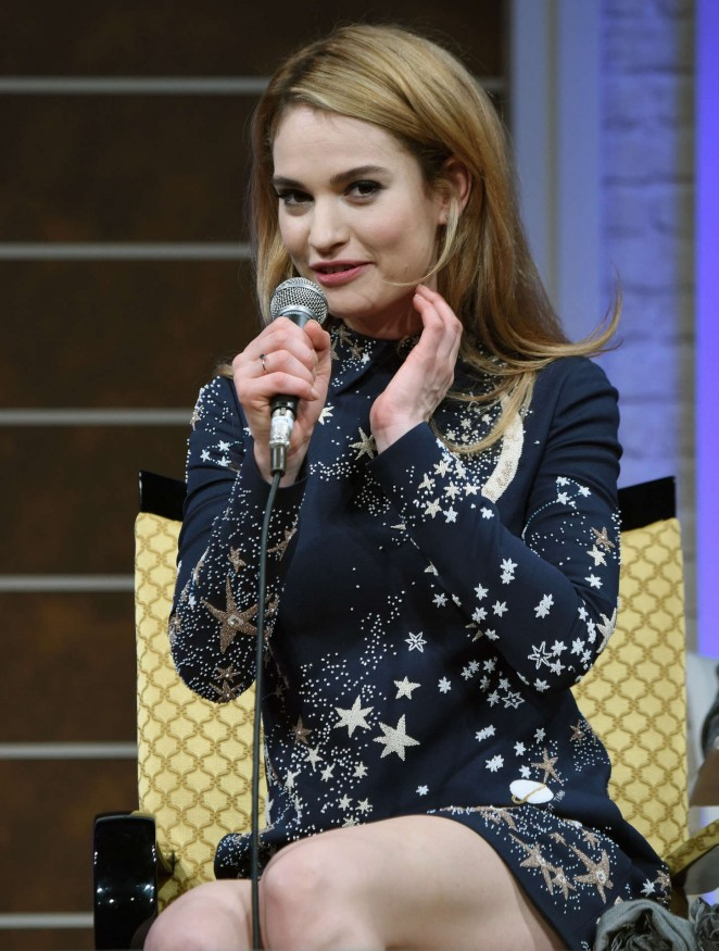 "Lily James - ""Cinderella"" Photocall in Tokyo"