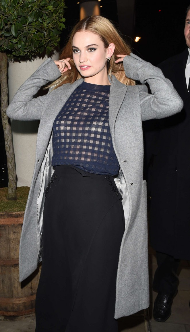 """Lily James - """"Cinderella"""" Premiere After Party in London"""