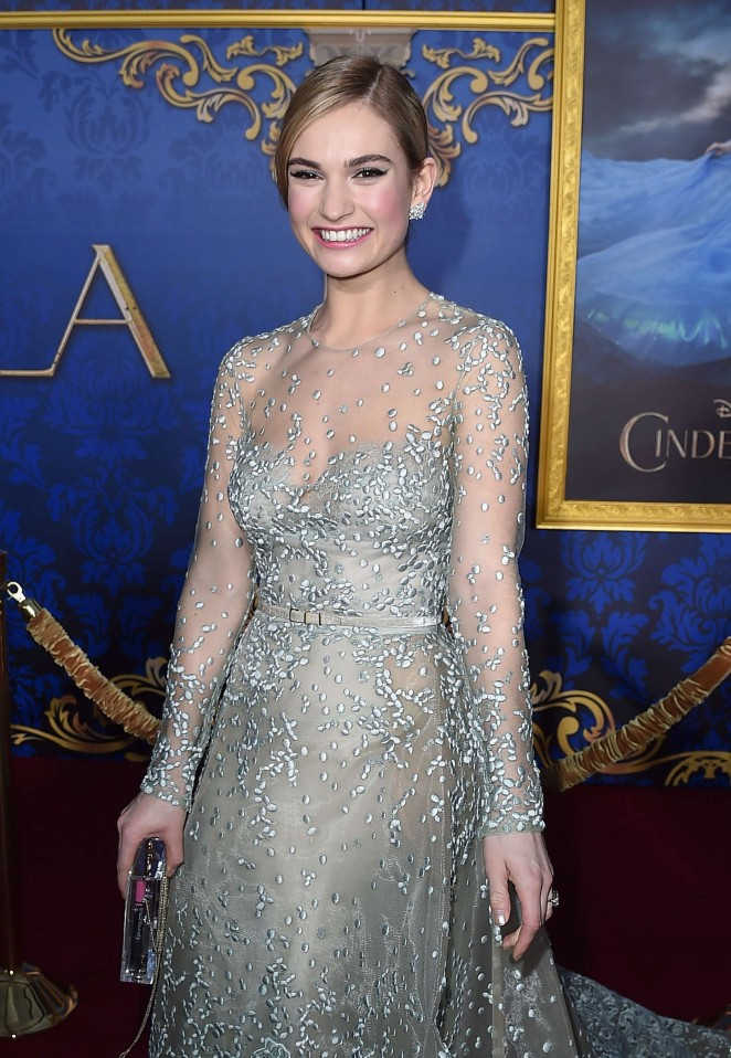 "Lily James - ""Cinderella"" Premiere in Hollywood"