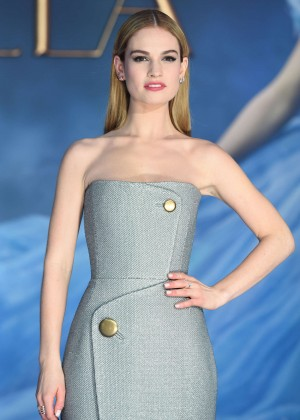 "Lily James - ""Cinderella"" Premiere in London"