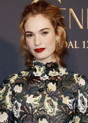 "Lily James - ""Cinderella"" Premiere in Milan"