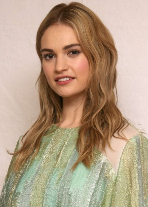 "Lily James - ""Cinderella"" Press Conference in Beverly Hills"