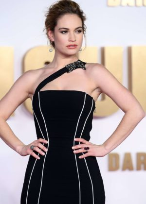 Lily James - 'Darkest Hour' Premiere in London