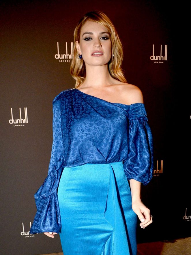 Lily James – Dunhill and GQ Pre-BAFTA Filmmakers Dinner and Party in London