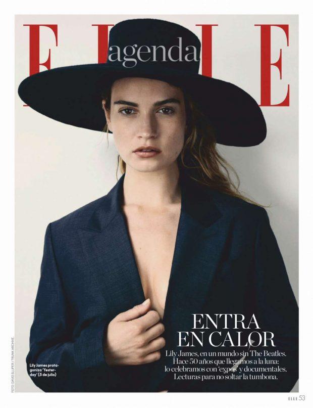 Lily James - Elle Espana Magazine (July 2019)