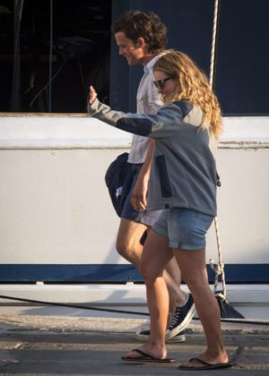 Lily James - Filming the musical Mamma Mia 2 in Croatia