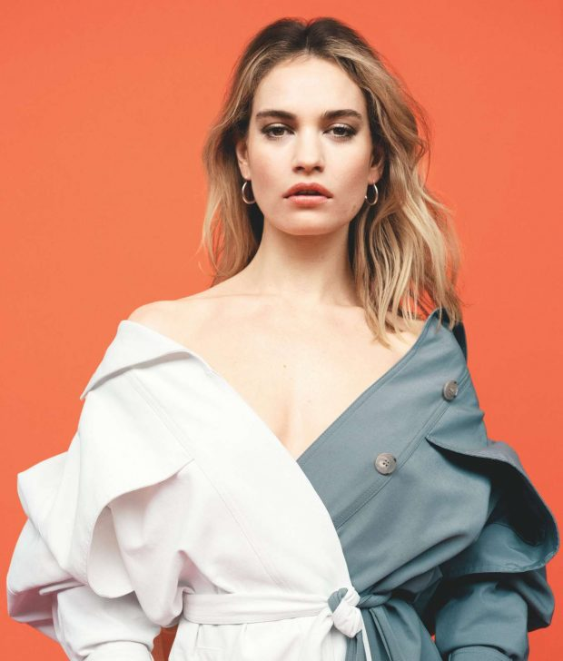 Lily James for Telegraph Magazine (June 2019) adds