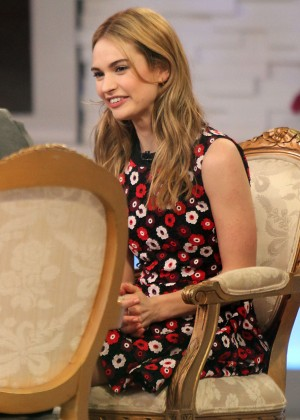 Lily James - 'Good Morning America' in NYC