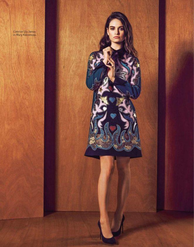 Lily James - Grazia Italia magazine