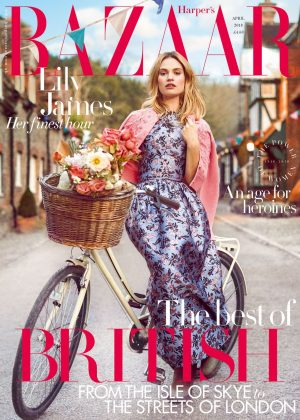 Lily James - Harper's Bazaar UK Magazine (April 2018)