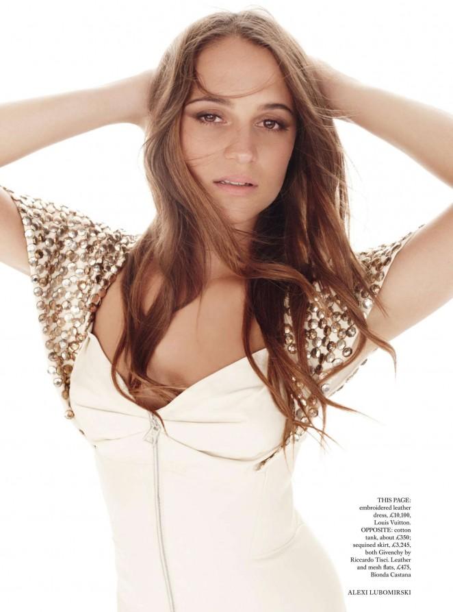 Lily James - Harper's Bazaar UK Magazine (January 2016)