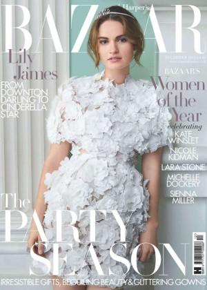 Lily James - Harpers Bazaar UK Magazine (December 2015)