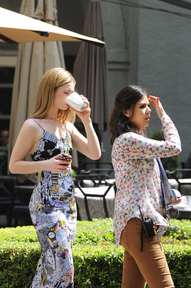 Lily James - Hotel Sheraton in Mexico City